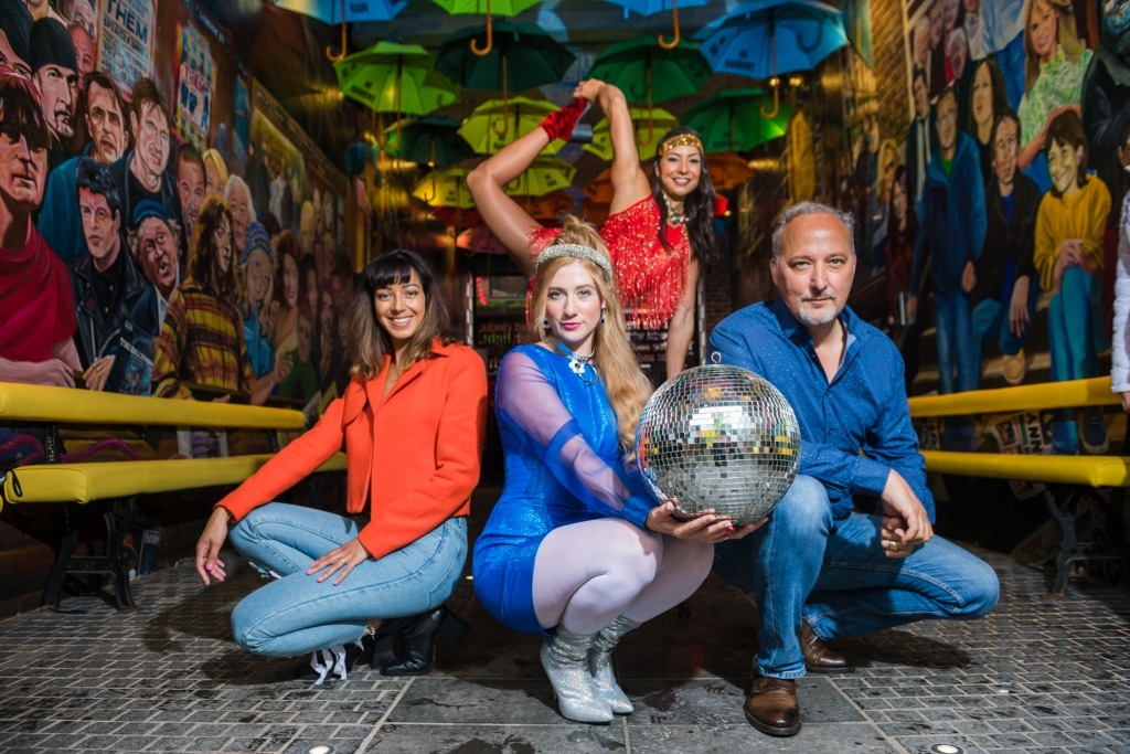 Fleur Mellor With Actress And Singer, Emma Dallas, Peter Corry And Gemma Cheung, Irish Pole Champion And Acrobat (landscape 2)