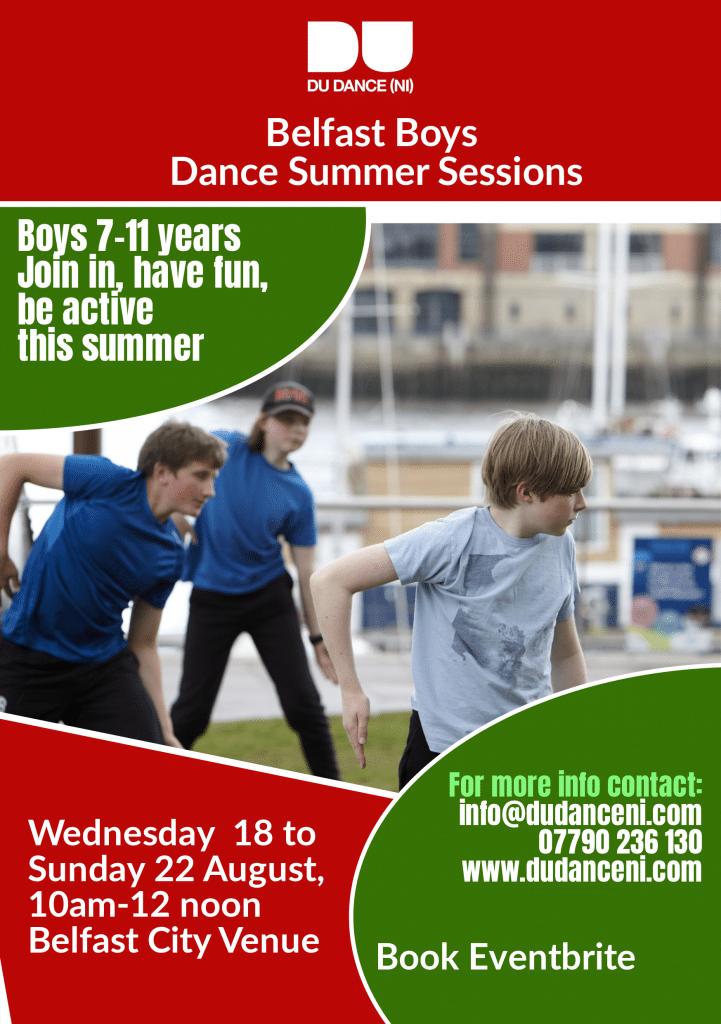 Belfast Boys Dance Summer Sessions